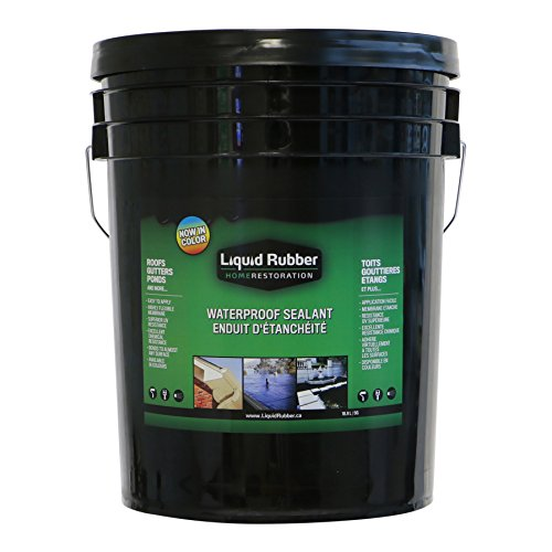 roof Sealant/Coating - 5 Gallon - Original Black - Environmentally Friendly - Water Based - No Solvents, VOC's or Harmful Odors - Easy to Apply - No Mixing - TOP SELLER ()