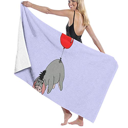 CHILL TEK Eeyore Balloon Large Bath Towel Beach Towel Rectangle for Beach Swimming Pool