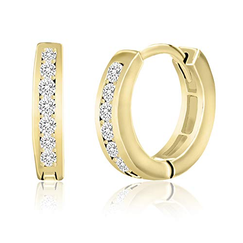 Best Deals On Diamonique Stud Earrings Yellow Gold Products