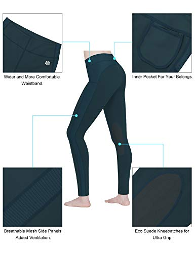 FitsT4 Women's Riding Tights Knee Patch Ventilated Active Schooling Tights