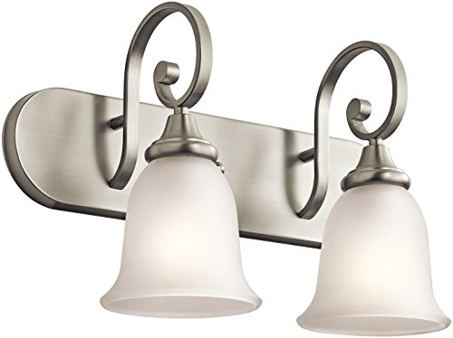 Kichler 45054NI Monroe Bath 2-Light, Brushed Nickel