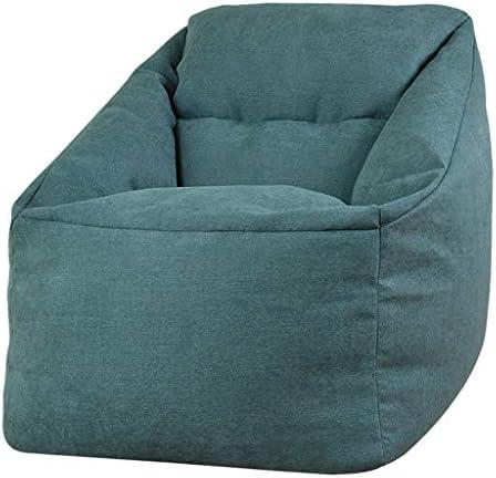 JIMI-I Lazy Couch Bean Bagスモールアパートメントバルコニーベッドルームスモールソファ (Color : Denim blue)