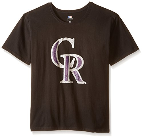 MLB Colorado Rockies Women's Short Sleeves Scoop Neck Prime, 2X, Black – DiZiSports Store