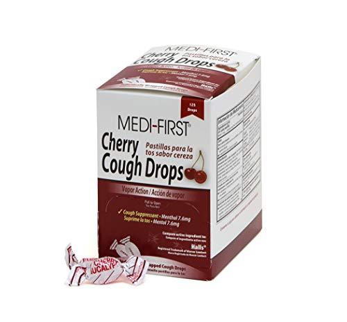 Medique 81525 Medi- First Cherry Cough Drops, 125 Drops