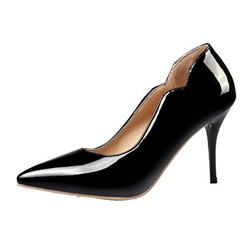 Unie Cuir Chaussures L Couleur Stylet Agoolar Femme Pu Wfc0YnwPx