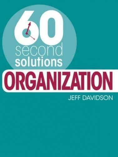Read Online Organization (60 Second Solutions) pdf epub