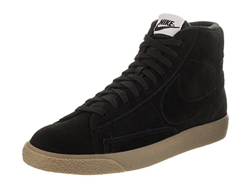 NIKE Men's Blazer Mid PRM Black/Black Gum Light Brown Casual Shoe 13 Men US by NIKE