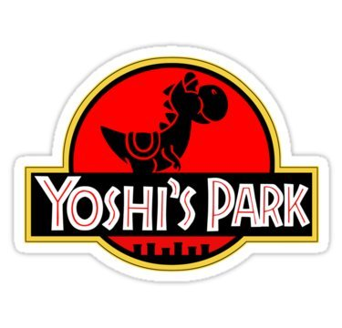 Yoshi's Park (Size W9.7 x H7.2 Centimeter) Car Motorcycle Bicycle Skateboard Laptop Luggage Vinyl Sticker Graffiti Decal Bumper Sticker By ()