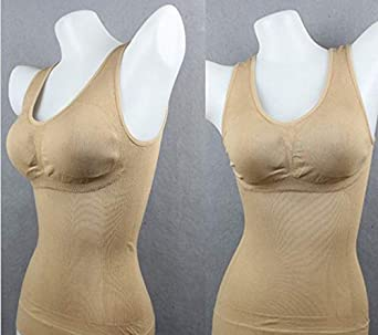 GREATWNCITY Body Shaping Camisole for Women,Breathable Keep in Shapebody Shaping Camisole with Built in Bra for Women