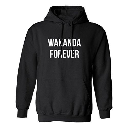 Wakanda Forever Adult Hooded Sweatshirt in Black - XX-Large
