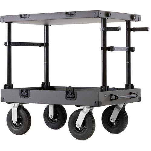Inovativ Scout 37 NXT Equipment Cart with 8'' Removable Wheel System, 600 lbs Capacity, Gray by INOVATIV
