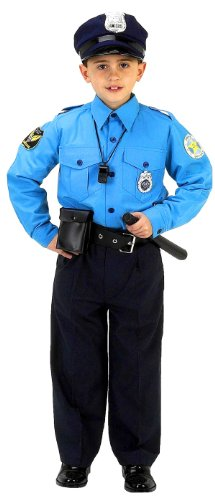 Aeromax Jr. Police Suit, 6-8 (6 Piece Costume)