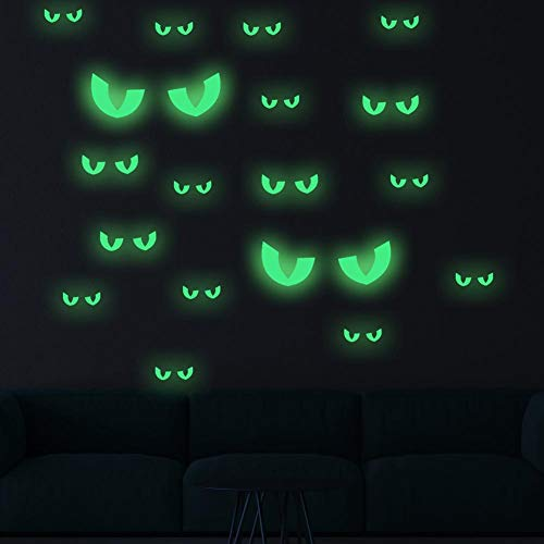 KINHOO Funny Glowing Eyes Fluorescent Stickers for Halloween Theme Party Decorations]()