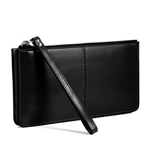 Zeagoo Women's PU Leather Clutch Checkbook Wallet with Wrist Strap Fit iPhone 6/iPhone 7 Plus 5.5 / Samsung Galaxy S14