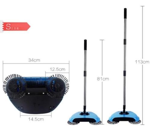 New Household Cordless Automatic Without Electricity Spin Broom Hand Dust Sweeper Floor Mop Carpet Cleaner