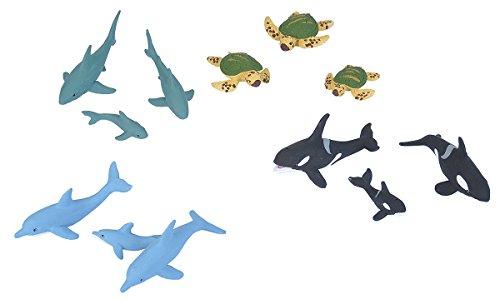 - Wild Republic Aquatic Family Animal Figurines Tube, Ocean Toys, Shark, Dolphin, Sea Turtle, Orca, Sea Life Families Collection