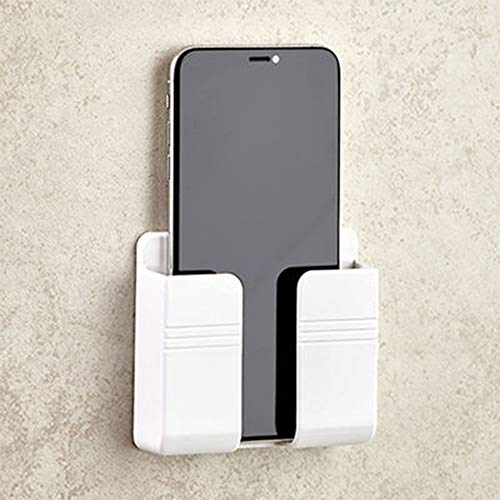 Akwind Phone Holder Wall Mounted, Damage-Free Wall Mount for Smartphones, Cellphone Stand Charging Holder for iPhone 11…