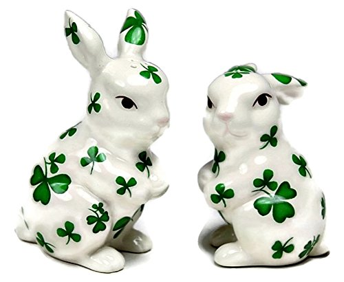Shamrock Rabbit Salt & Pepper Shakers