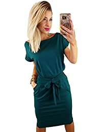 Women's Elegant Lantern Sleeve Short Sleeve Wear to Work...