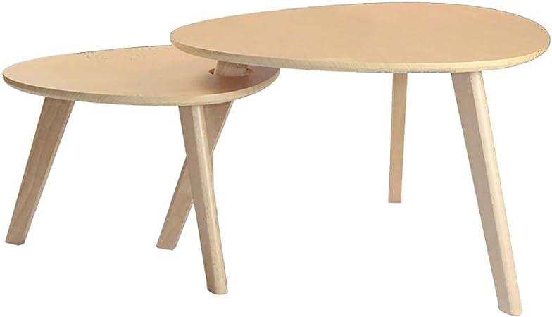 Mesas auxiliares Mid Century Vintage Mesita de noche Muebles modernos Decoración Juegos de mesa Muebles decorativos Mesitas de café anidadas Juego de 2 Sala de estar Oficina en el hogar Montaje fácil: