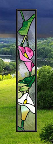 Stained Glass Window • Sidelight • Lilies