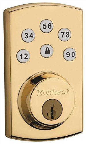 Kwikset Corporation 9073LIFE Powerbolt 1000 Pushbutton Residential Lock Lifetime Polished Brass Kwikset Corporation