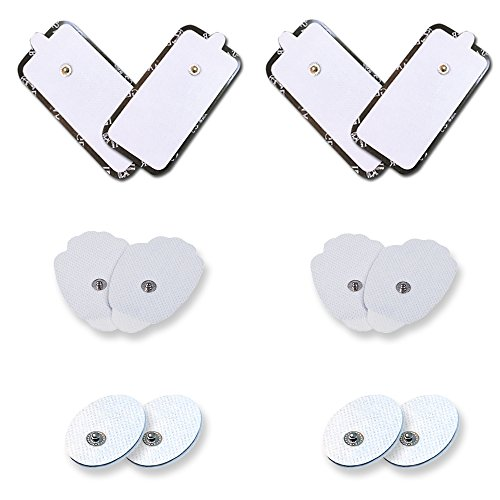 Replacement Tens Unit Pads All Sizes 2 Pairs of each sizes Electrode Self Adhesive Replacement Electodes Large Medium Small