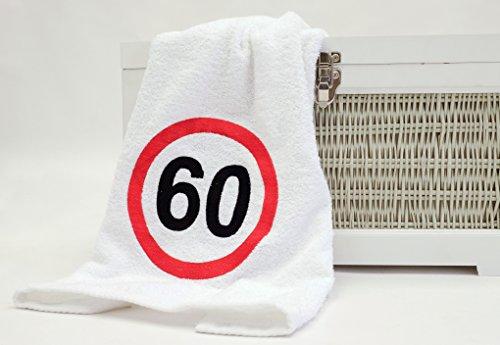ABC de casa regalo de 60 cumpleaños toalla con bordado Tráfico de caracteres para hombre y mujer, de una práctica 60 aniversario regalo Idea de un Soldados ...