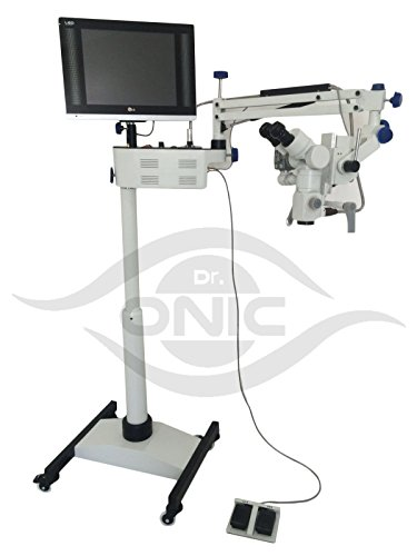 Operating ENT Microscope 3 Step,Floor Type,0-180° Inclinable Binoculars,LED Screen, HD Camera,Beam Splitter Dr.Onic ()