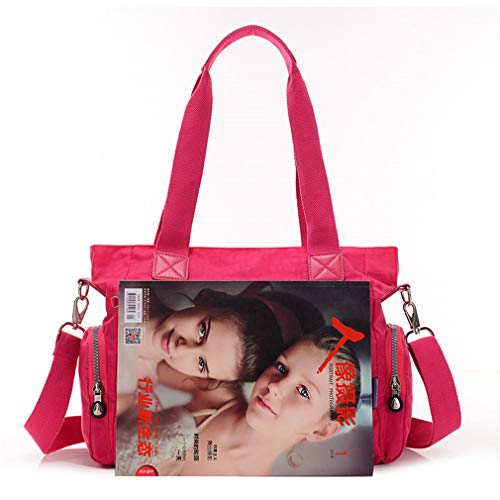 Female Crossbody for Women Tote Bags Solid Bag Rosy Red Watermelon 35x12x27 Messenger cm Ww6YcqwraB