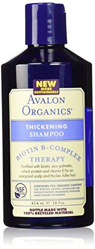Avalon Biotin Thickening Shampoo (Avalon Organics Thickening Shampoo Biotin B Complex -- 14 fl oz (Packaging may vary))