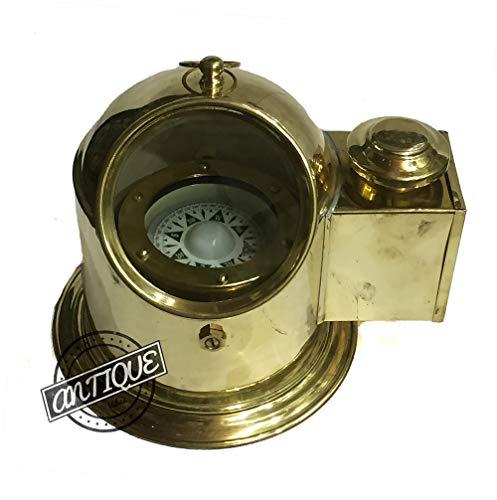 AV Nautical Ship/Boat Oil Lamp Floating Dial Binnacle Gimbled Compass Collectible Dunkirk War Marine Instruments