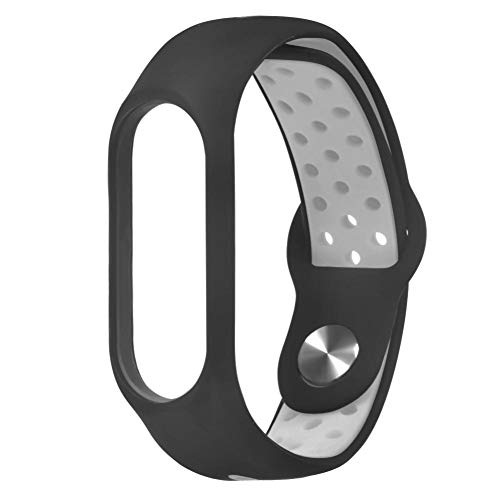 - SUKEQ Bands for Xiaomi Mi Band 3, Soft Silicone Replacement Strap Lightweight Ventilate Sport Wristband Bracelet Accessories Watch Band for Xiaomi Mi Band 3 (Gray)