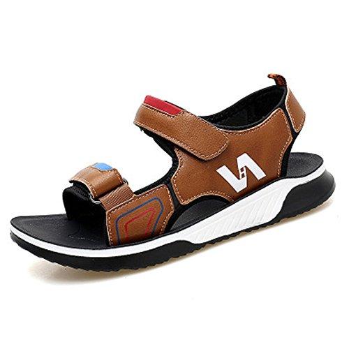 Baby Girl Boy PU Leather Anti Slip Sandals Shoes Prewalker(brown26/9 M US - Footwear Youth Combo Brown