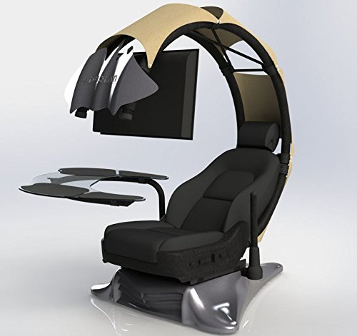41CGxoN6StL - Pre-order(Order leadtime : 4 weeks after order) Drian Workstation Game Chairs IT & Furniture Converged Gaming chair For office and Home and Game(Organic Beige)For Double Monitor & Right door direction