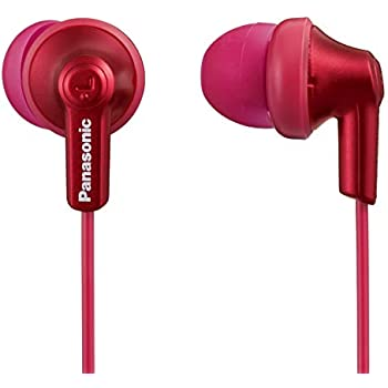 Panasonic Ergofit in-Ear Earbud Headphones Metallic Red (RP-HJE120-RA)