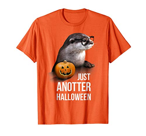 Mens Just Anotter Halloween - Funny Halloween Otter Tshirt Medium Orange for $<!--$19.99-->