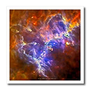 ht_61574_1 Lee Hiller Designs Space - In the Cosmos - Eagle Nebula - Iron on Heat Transfers - 8x8 Iron on Heat Transfer for White Material
