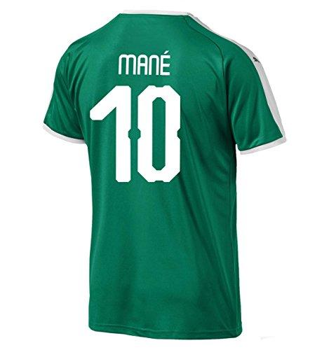 (PUMA Mané #10 Senegal Away Men's Soccer Jersey World Cup Russia 2018 (L))