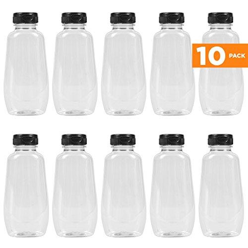 12oz plastic jars - 6