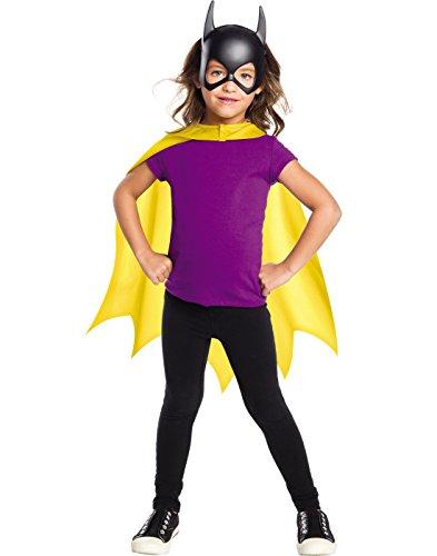 Rubie's Costume Girls DC Comics Batgirl Cape & Mask Set Costume, One Size -