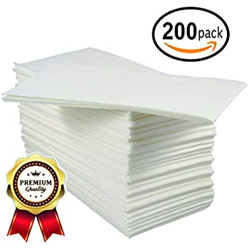 200 Pk Guest Towels Disposable Linen Feel Hand Napkins Elegant Paper Hand Towels