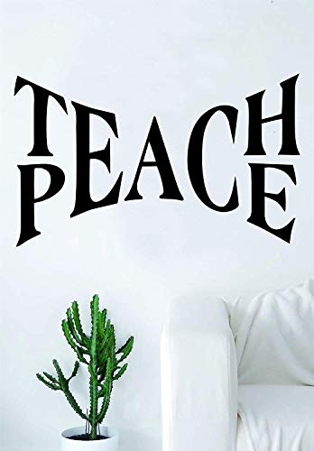 Teach Peace Large Quote Decal Sticker Wall Vinyl Art Home Room Decor Inspirational Motivational Beautiful Love