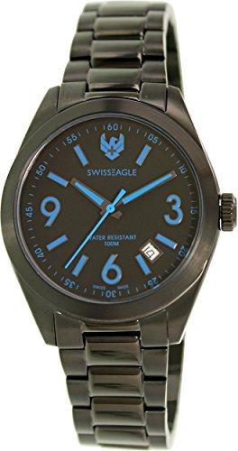 Swiss Eagle Men's SE-9058-55 Black Stainless-Steel Swiss Quartz Watch