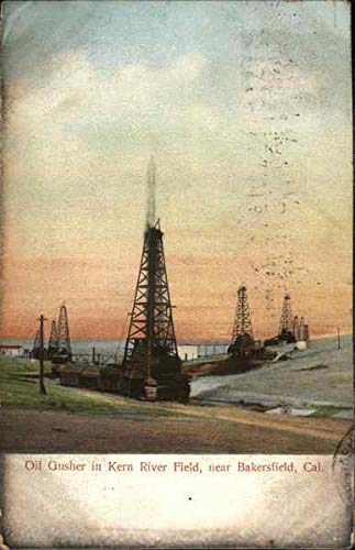 Oil Gusher in Kern River Field Bakersfield, California Original Vintage ()
