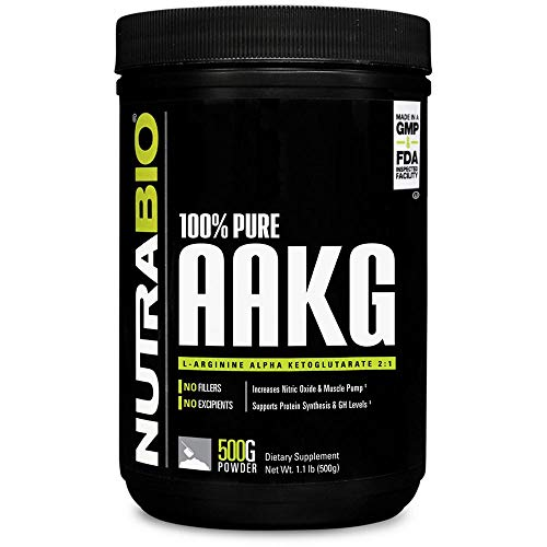 NutraBio 100% Pure Arginine AKG Powder - 500 Grams by NutraBio