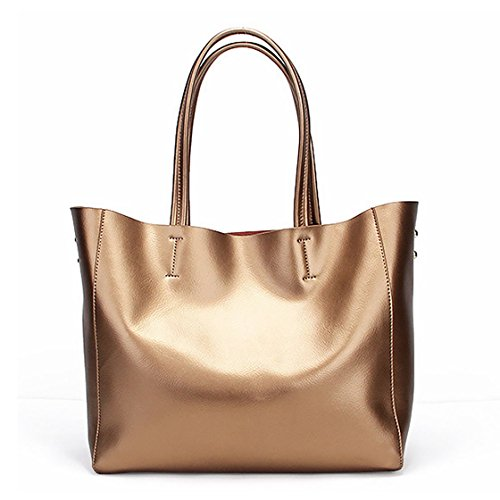 Damen Handtasche Leder Tasche Shopper Umhängetasche Groß Schule Schultertasche