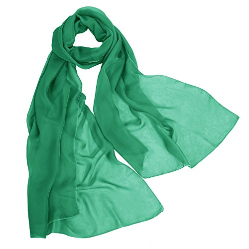 Bbonlinedress Women's Soft Sheer Elegant Chiffon Shawl Wrap Wedding Scarf Green 200CM75CM (Green Sheer)