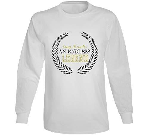 Endless Legend Tony Hawks Comedian Comedy Worn Look Cool Fan Long Sleeve T Shirt S White