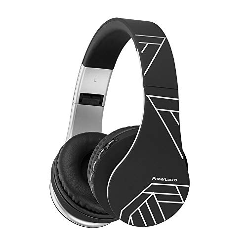 PowerLocus Wireless Bluetooth Over-Ear Stereo Foldable Headphones, Wired Headsets Noise Cancelling with Built-in…
